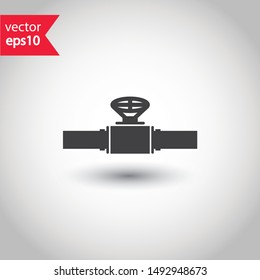 Gas pipeline vector icon. Tube flat sign. Piping icon. EPS 10 symbol. Pipeline pictogram sign design