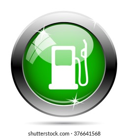 Gas pump icon. Internet button on white background. EPS10 vector.