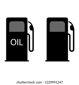 Gas pump icon. Vector illustration gasoline column at the gas station.