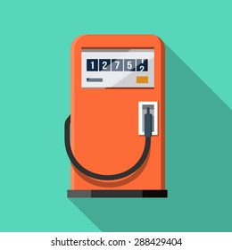Gas Pump .Vector Flat Icon