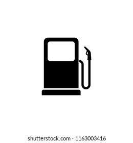 Gas station black isolated icon sign. Gas station vector symbol.