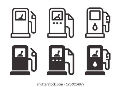 Gas station fuel icon. Symbol of of fuel pump.