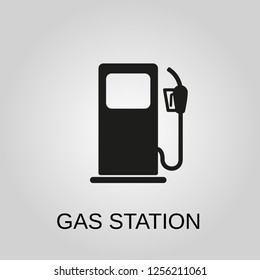 Gas station icon. Gas station concept symbol design. Stock - Vector illustration can be used for web