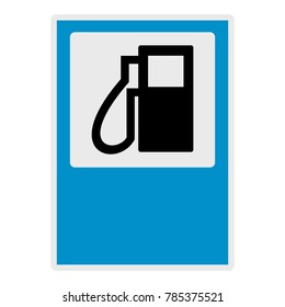 Gas station icon. Flat illustration of gas station vector icon for web.