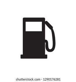 Gas Station Icon In Flat Style Vector For Apps, UI, Websites. Black Icon Vector Illustration.