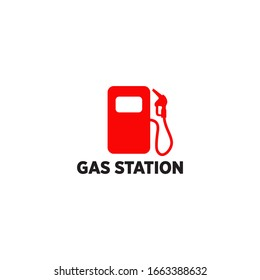 Gas station icon logo design vector illustration template