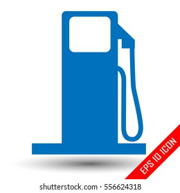 Gas station icon. Gas station logo. Flat icon of Gas station