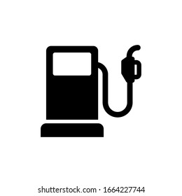 Gas station icon vector glyph style