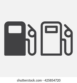 gas station line icon, outline and solid vector logo, linear pictogram isolated on white, pixel perfect illustration
