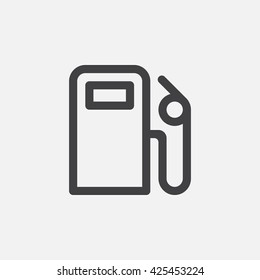 gas station line icon, petrol outline vector logo, linear pictogram isolated on white, pixel perfect illustration