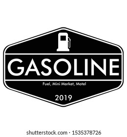 gas station logo or badge with vintage style