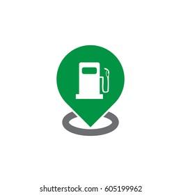 gas station logo vector