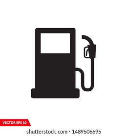 Gas station sign, gas pump icon vector illustration