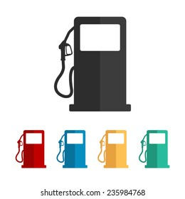 gas station sign - vector icon, flat design