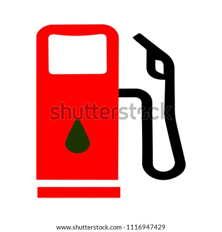 Gas Station Symbol Gasoline Pump Petrol Stock Vector Royalty Free