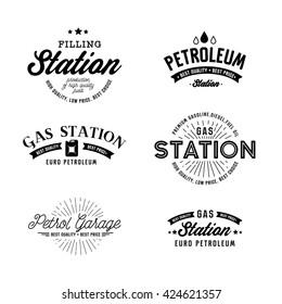 Gas station vector set.