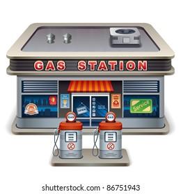 Gas station. XXL icon