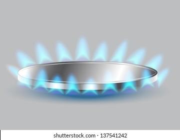 Gas stove burner illustration, Vector