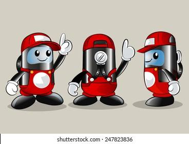 Gas tank Mascot.-vector illustration