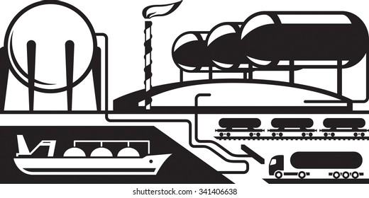 Gas tank terminal - vector illustration
