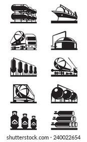 Gas tank terminals - vector illustration