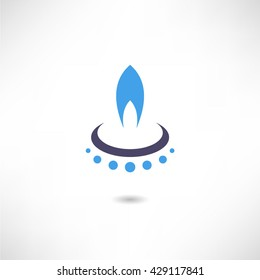 Gas-burner icon