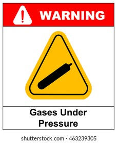 Gases under pressure sign. Vector symbol