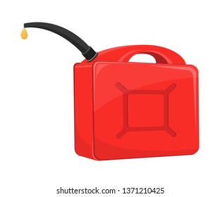 Gasoline canister vector design illustration isolated on white background