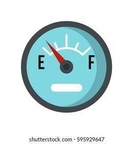 Gasoline dashboard icon logo. Flat illustration of gasoline dashboard vector icon isolated on white background