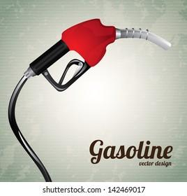 gasoline dispenser over vintage background vector illustration