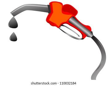 gasoline dispenser throwing money, vector illustration