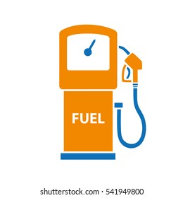 Gasoline fuel pump isolated. Filling station icon.