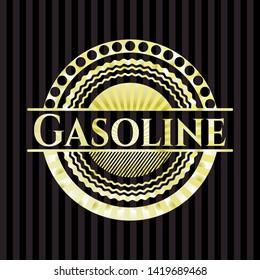 Gasoline gold emblem or badge. Vector Illustration. Detailed.