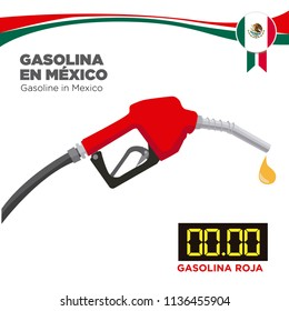 Gasoline in Mexico. Graph of the different cost of gasoline.