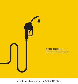 Gasoline pump nozzle sign. Fuel pump petrol station. Vector refuel service illustration.