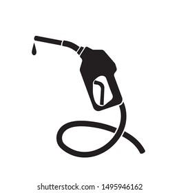 Gasoline pump nozzle sign.Gas station icon. Flat design style. eps 10