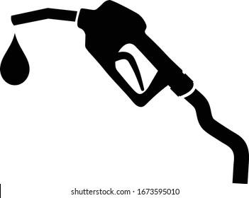 Gasoline pump nozzle sign.Gas station icon.