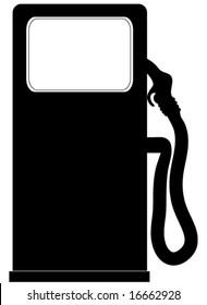 Gasoline pump vector.