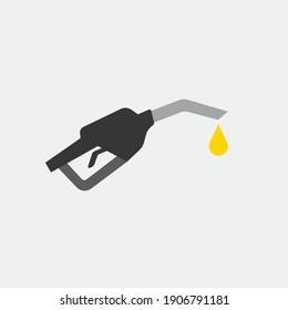 gasoline pump vector icon filling station