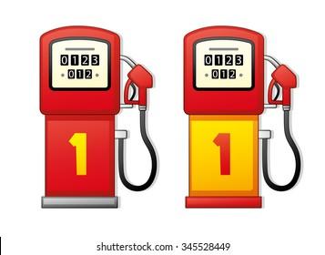 Cartoon Gas Pump