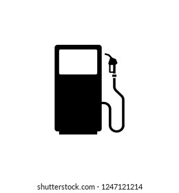 Gasoline Station Icon Vector Template.