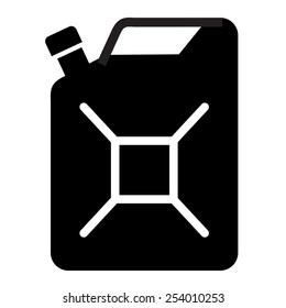 gasoline vector logo design template. Jerry can of petrol or oil icon.