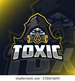 Gass mask esport logo template design for personal, team