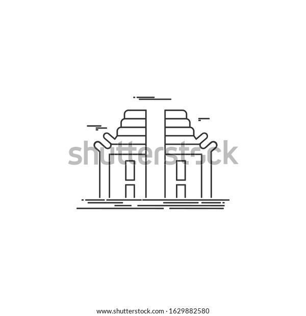 Gate City Serang Gapura Kota Serang Stock Vector Royalty Free 1629882580