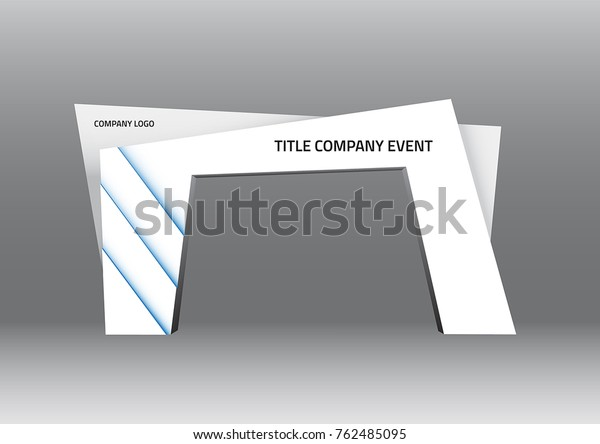 Gate entrance exhibition vector with blue lighted