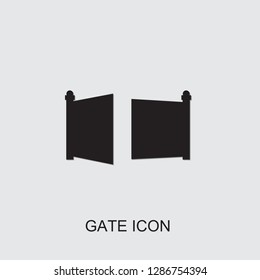 gate icon . Editable filled gate icon from smarthome. Trendy gate icon for web and mobile.