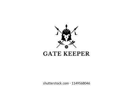 Gate Keeper vector logo image