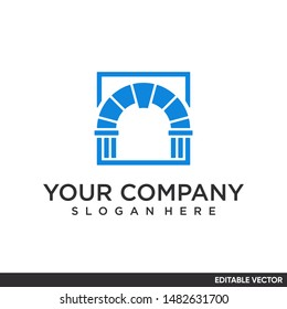 gate minimalist logo design modern