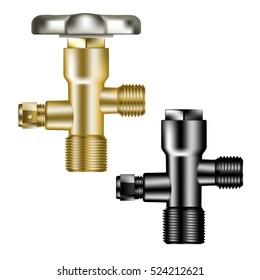 gate valve metal ventil equipment isolated vector