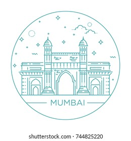 gate way of India Mumbai Illustration